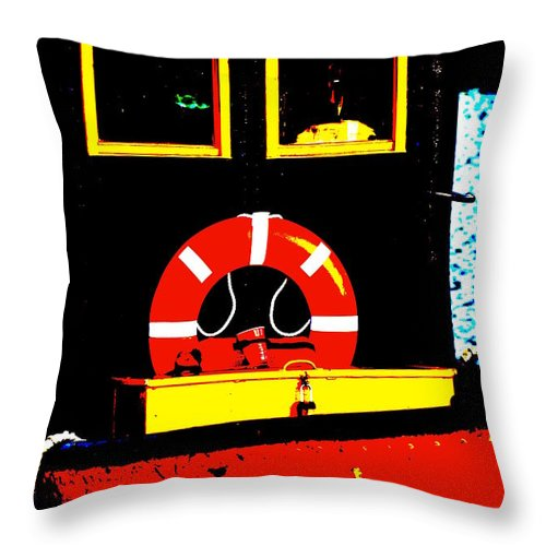Boats Throw Pillow featuring the photograph Little Tug by Jeffery L Bowers