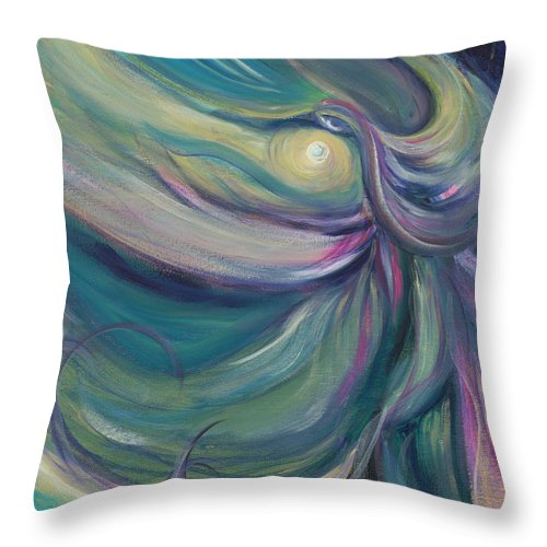 Dance Throw Pillow featuring the painting Liturgical Dance by Nadine Rippelmeyer