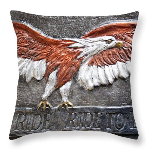 Fine Art Print Throw Pillow featuring the photograph Live to Ride by Ella Kaye Dickey