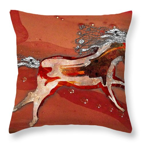 Horse Throw Pillow featuring the photograph Living Free by Shannon Story