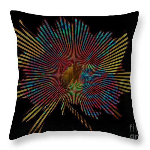 Flower Throw Pillow featuring the photograph Living In The Past by Martin Howard