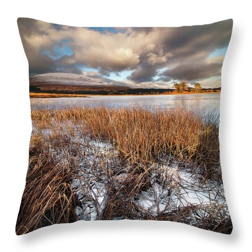 Tranquility Throw Pillow featuring the photograph Loch Tulla by Image By Peter Ribbeck