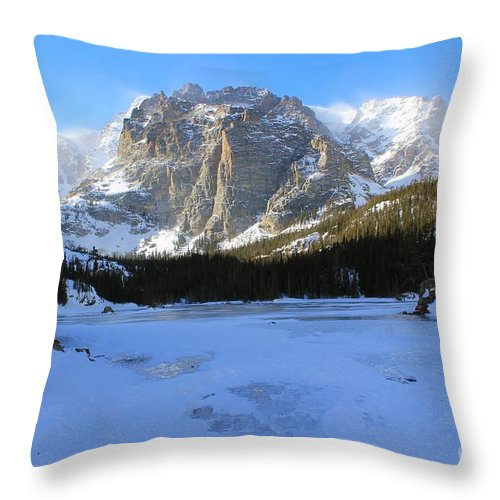 Winter Throw Pillow featuring the photograph Loch Vale Winter 2 by Tonya Hance