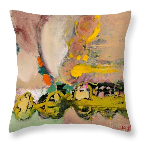Landscape Throw Pillow featuring the painting Locomotion by Allan P Friedlander