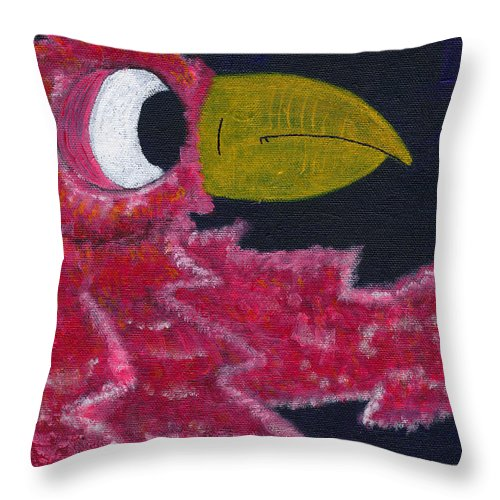 Lola Throw Pillow featuring the painting Lola by Michael Mooney