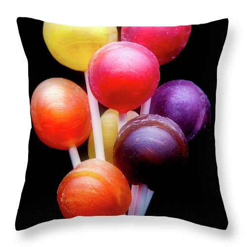 Sucker Throw Pillow featuring the photograph Lollipop Bouquet by Tom Mc Nemar