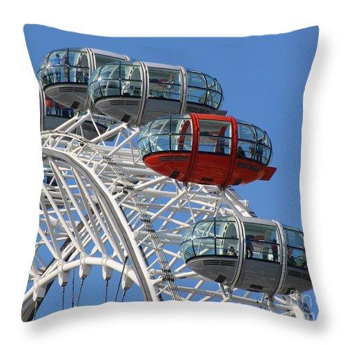 London Eye Throw Pillow featuring the photograph London Eye 5339 by Jack Schultz