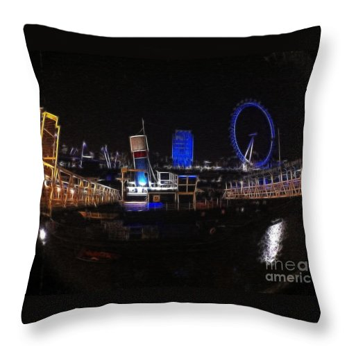 London Throw Pillow featuring the photograph Downtown London by Doc Braham
