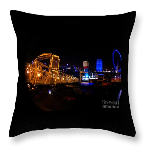 Eye Throw Pillow featuring the photograph London At Night by Doc Braham