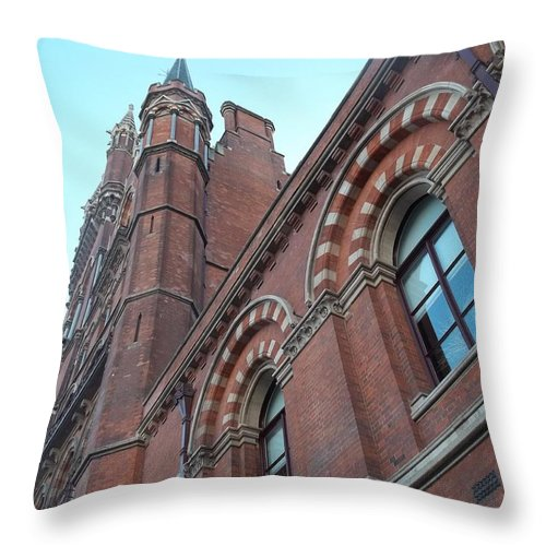 London Throw Pillow featuring the photograph London Turrents by James Potts