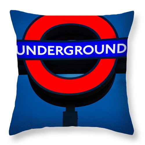 Britain Throw Pillow featuring the photograph London Underground by Inge Johnsson