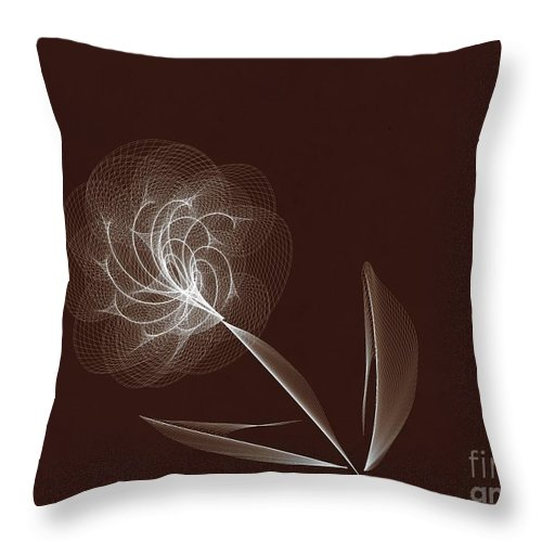 Illustration Throw Pillow featuring the photograph Lone Flower by Tom Gari Gallery-Three-Photography