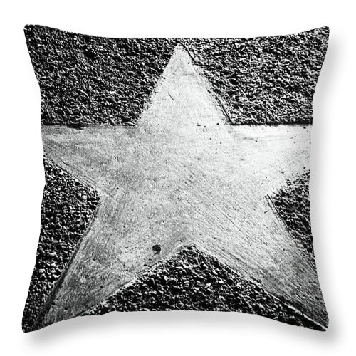 Lone Star Throw Pillow featuring the photograph Lone Star by John Rizzuto