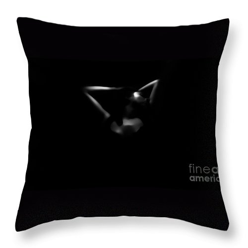 Black Throw Pillow featuring the photograph Lonely by Jessica Shelton