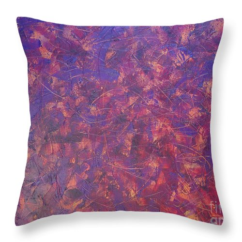 Abstract Throw Pillow featuring the painting Long Beach 5am by Dean Triolo