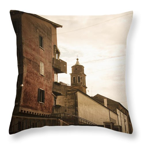 Day Throw Pillow featuring the photograph Long Exposure Of Clothing Drying by Rick Senley
