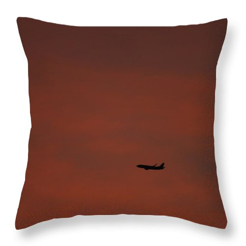 Sunset Throw Pillow featuring the photograph Long Hard Goodbye by Donna Blackhall