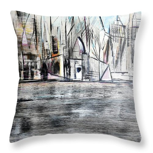 Jack Throw Pillow featuring the painting Long Island Pov 2 by Jack Diamond
