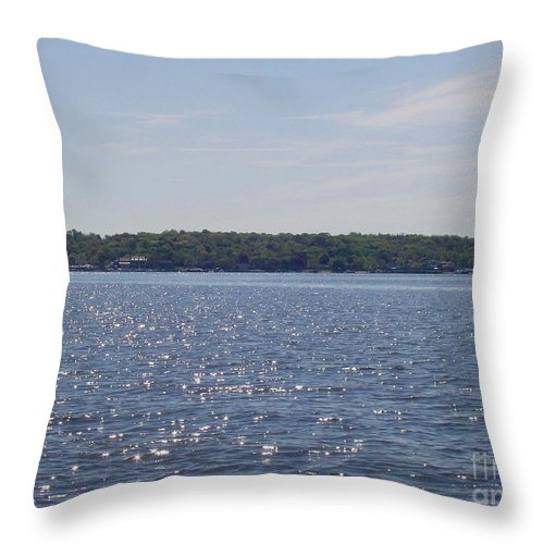 Long Island Sun At Midday Throw Pillow featuring the photograph Long Island Sun At Midday by John Telfer