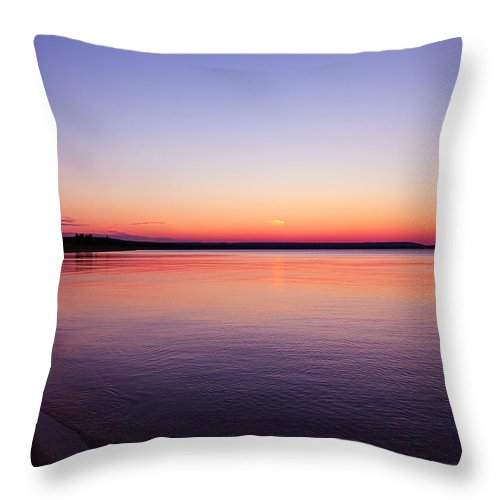 Long Past Sunset Throw Pillow featuring the photograph Long Past Sunset by Rachel Cohen