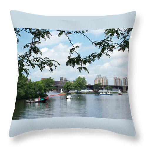 longfellow Throw Pillow featuring the photograph Longfellow From Lagoon by Barbara McDevitt