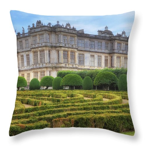 Longleat House Throw Pillow featuring the photograph Longleat House - Wiltshire by Joana Kruse