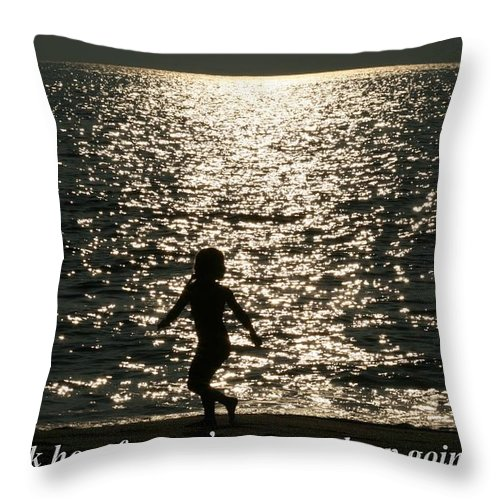 Sunset Throw Pillow featuring the digital art Look How Far You've Come... by Pharaoh Martin