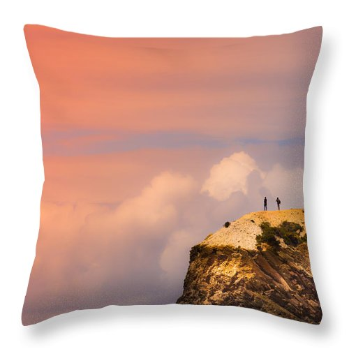 Together Throw Pillow featuring the photograph Look There by Edgar Laureano