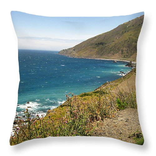 Pch Throw Pillow featuring the photograph Looking Back At Pch by Rosie McCobb