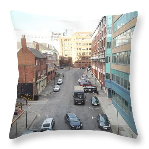 Newport Throw Pillow featuring the photograph Looking Down On Newport by James Potts