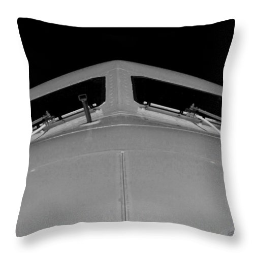 Airliner Throw Pillow featuring the photograph Looking Down On You by Paul Job