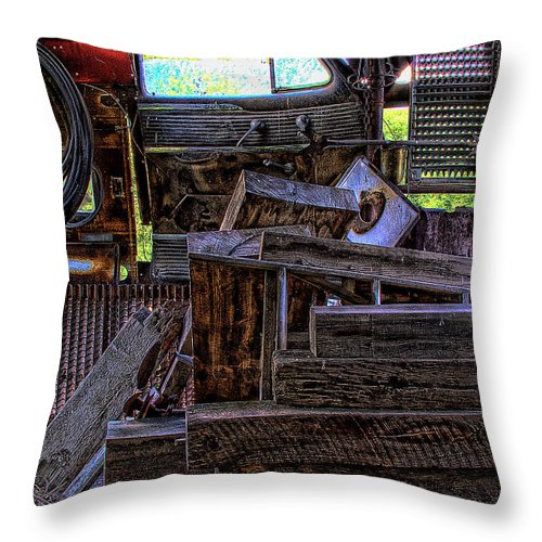 Junk Castle Throw Pillow featuring the photograph Looking Out The Car Window by David Patterson
