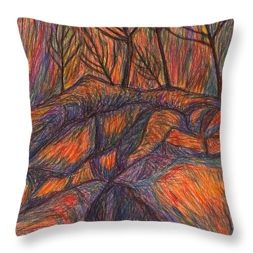 Kendall Kessler Throw Pillow featuring the drawing Looking Up by Kendall Kessler