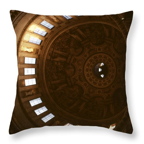 Looking Up Throw Pillow featuring the photograph Looking Up London Saint Paul's 2 by David Hohmann