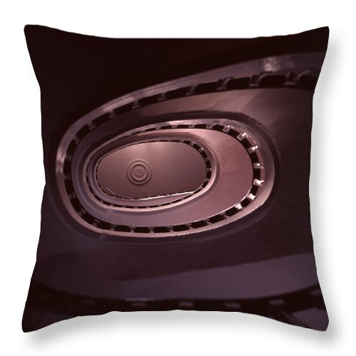 Spiral Stair Throw Pillow featuring the photograph Looking Up Spiral Stair 2 by David Hohmann
