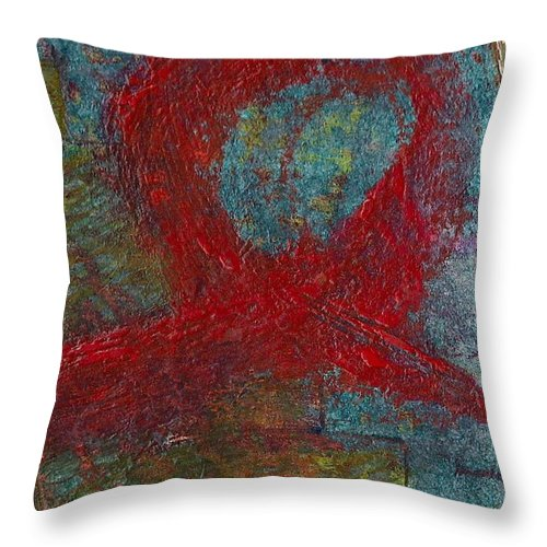 Abstract Throw Pillow featuring the painting Loop by James Raynor