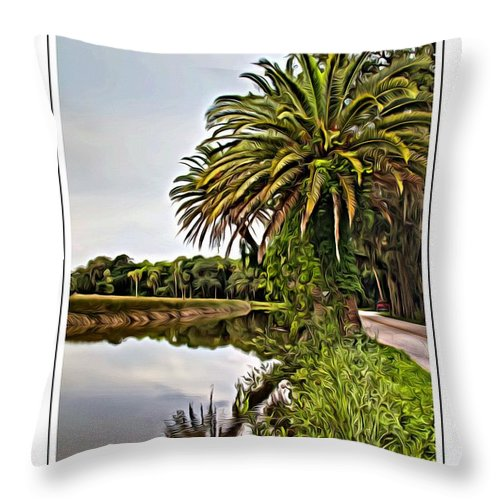 The Loop Throw Pillow featuring the photograph Loop Reflect by Alice Gipson