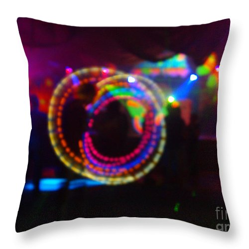 Loopty Loop With Pink Haze Secret Garden Throw Pillow featuring the photograph Loopty Loop With Pink Haze by Feile Case