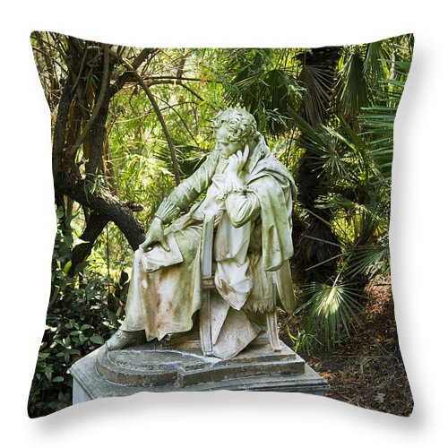 Corfu Throw Pillow featuring the photograph Lord Byron Reflects by Brenda Kean