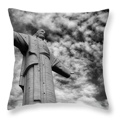 Jesus Christ Throw Pillow featuring the photograph Lord Of The Skies 3 by James Brunker