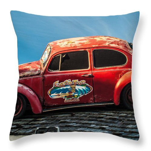 Pensacola Beach Throw Pillow featuring the photograph Lost Beetle by Jon Cody
