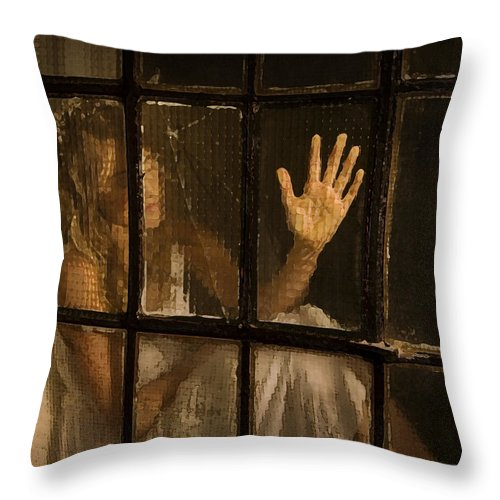 Festblues Throw Pillow featuring the photograph Lost Dreams.. by Nina Stavlund