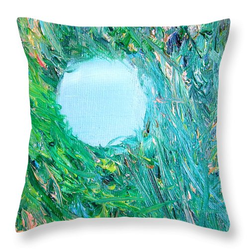 Lost Throw Pillow featuring the painting Lost by Fabrizio Cassetta