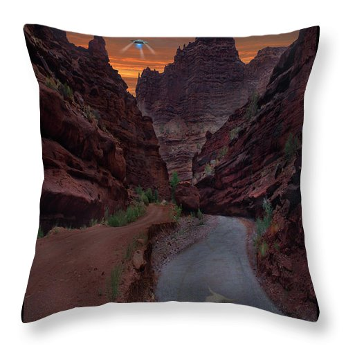 Ufo Throw Pillow featuring the photograph Lost Film Number 1 by Mike McGlothlen