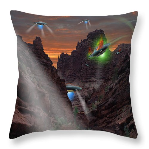 Ufo Crash Throw Pillow featuring the photograph Lost Film Number 2 by Mike McGlothlen
