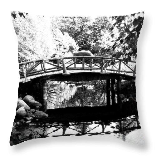 Lost Lagoon Bridge Throw Pillow featuring the photograph Lost Lagoon Bridge by Will Borden