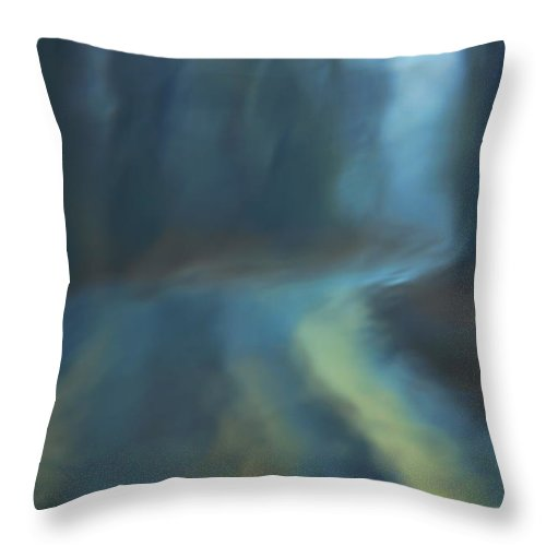 Abstract Throw Pillow featuring the photograph Lost Road by Brenda Hackett