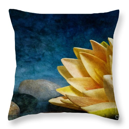 Lotus Throw Pillow featuring the photograph Lotus Blues by Eric Chegwin