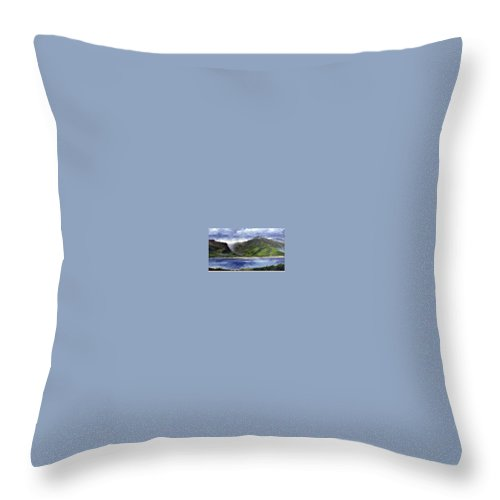 Irish Throw Pillow featuring the painting Loughros Bay Ireland by Jim Gola