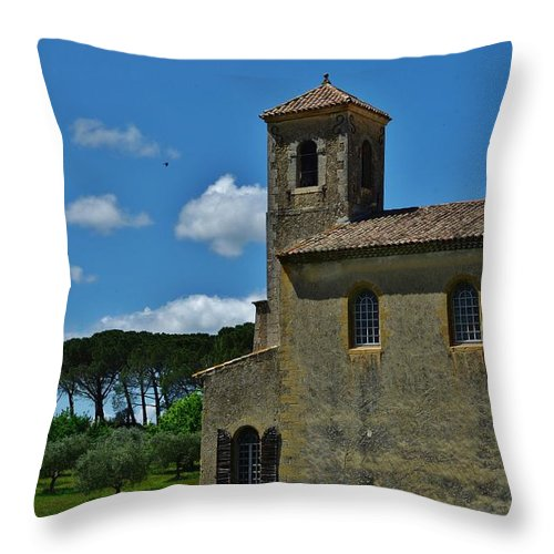 Lourmarin Throw Pillow featuring the photograph Lourmarin Castle by Dany Lison
